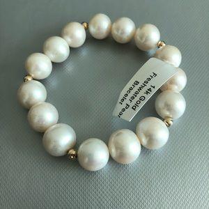 14K Gold/Freshwater Pearl Bracelet